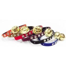 Cat collar w/gold bell - 6 col